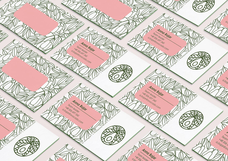 Business Cards avocado