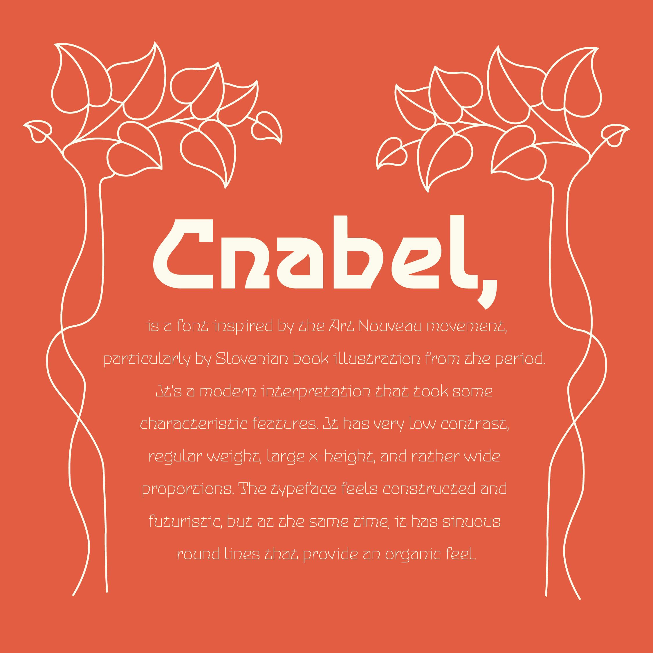 Cnabel Font info