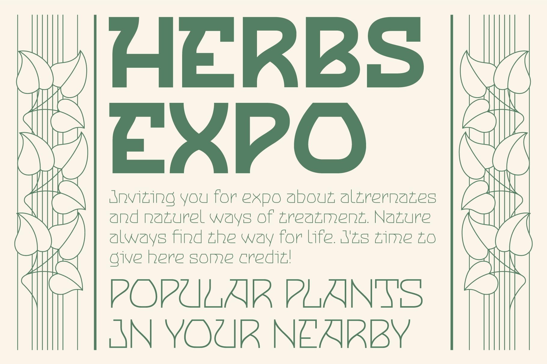 cnabel font herbs expo invitation