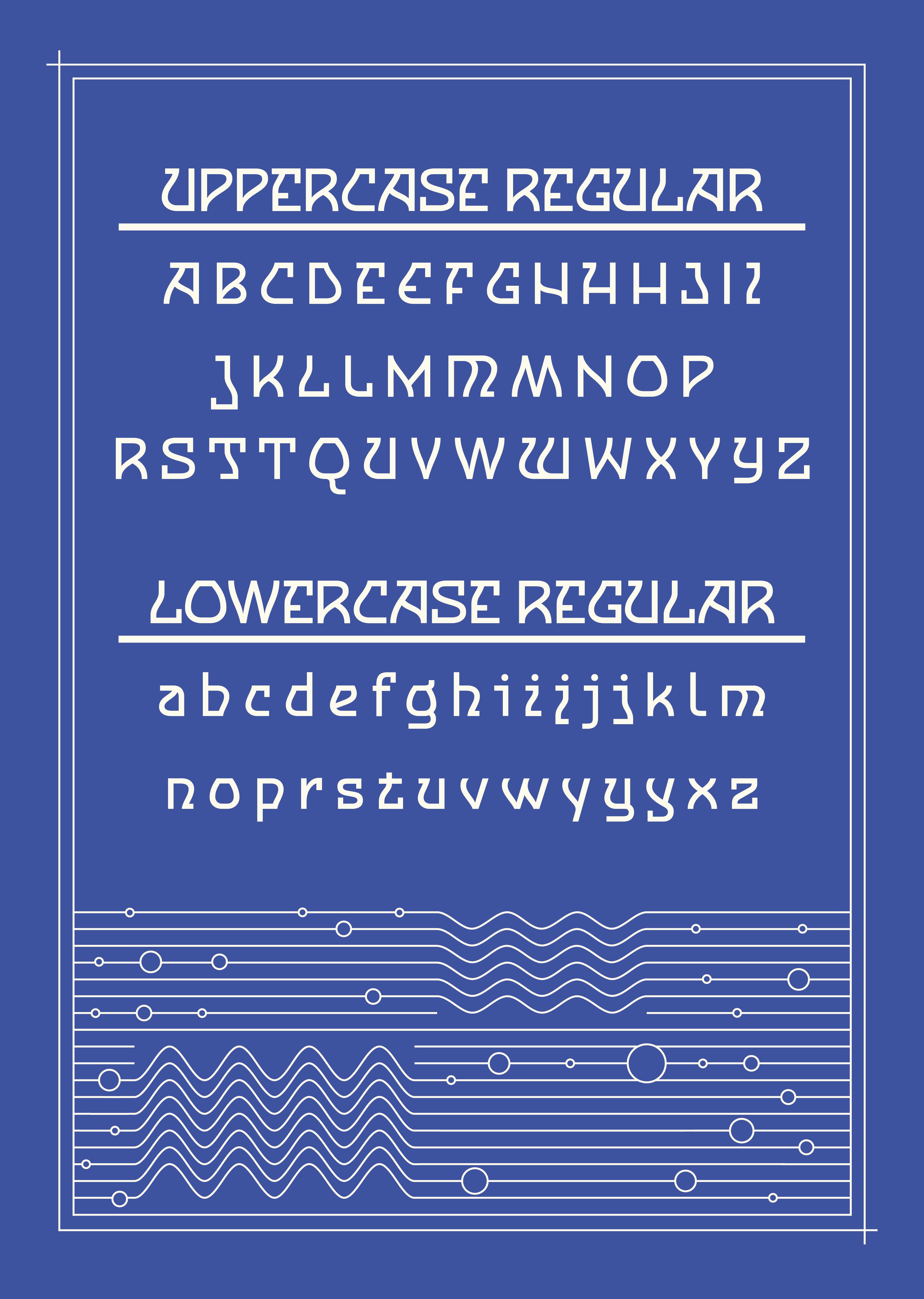 Cnabel Font alphabet