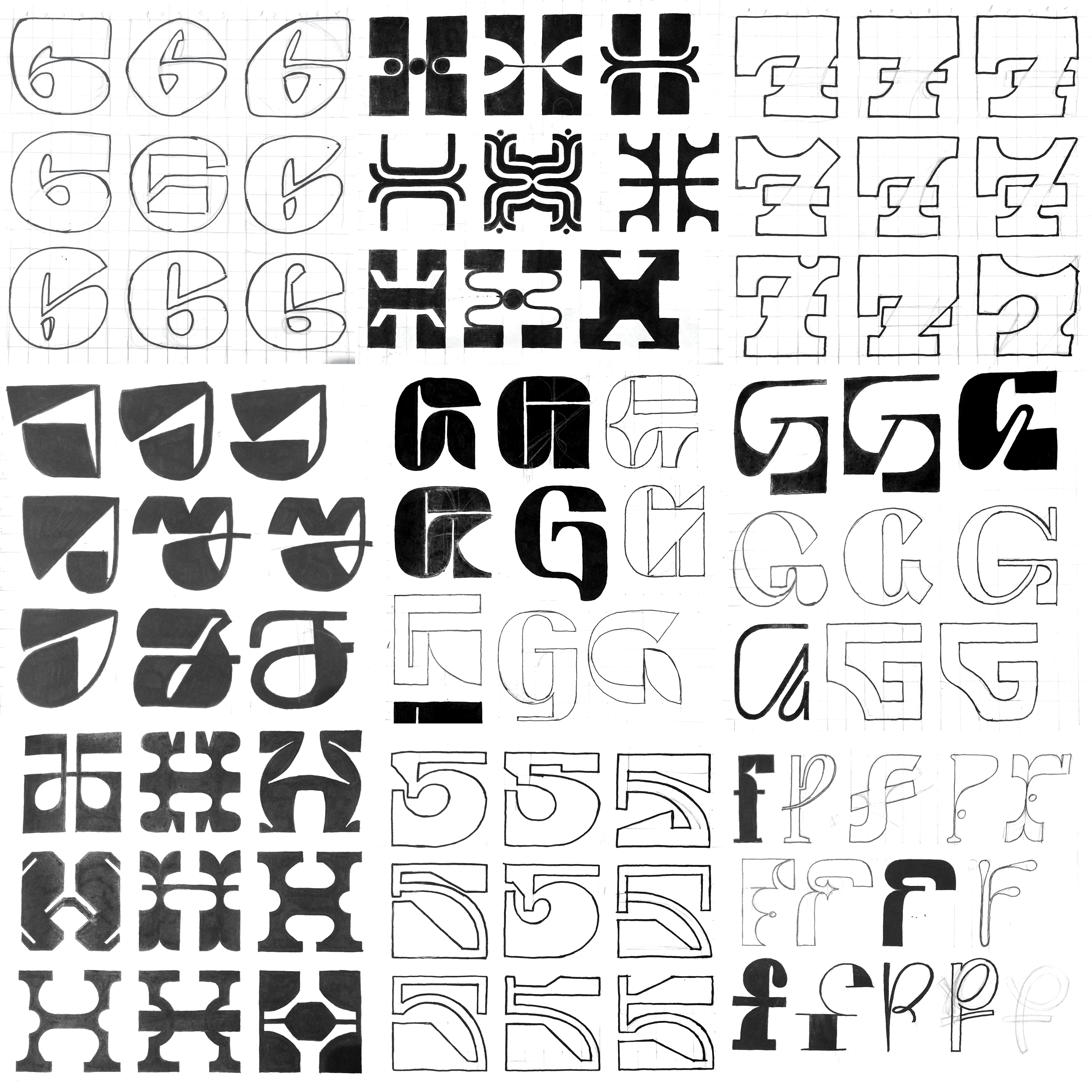 36 days of type sketches